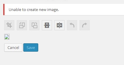 Unable to create new image
